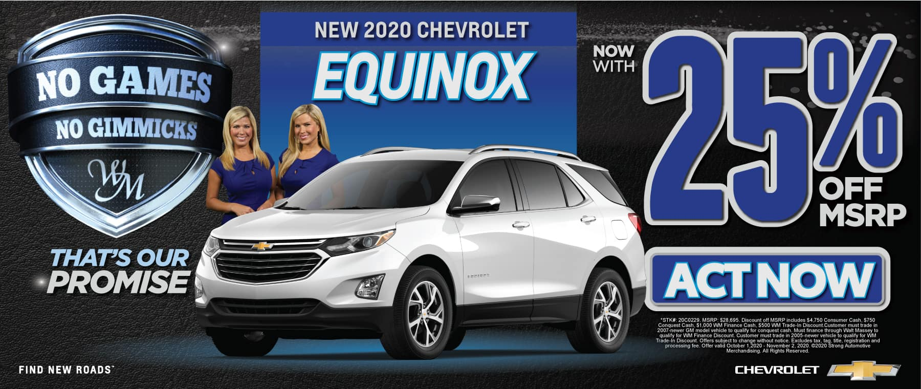 New 2020 Chevrolet Equinox | 25% off MSRP | Act Now