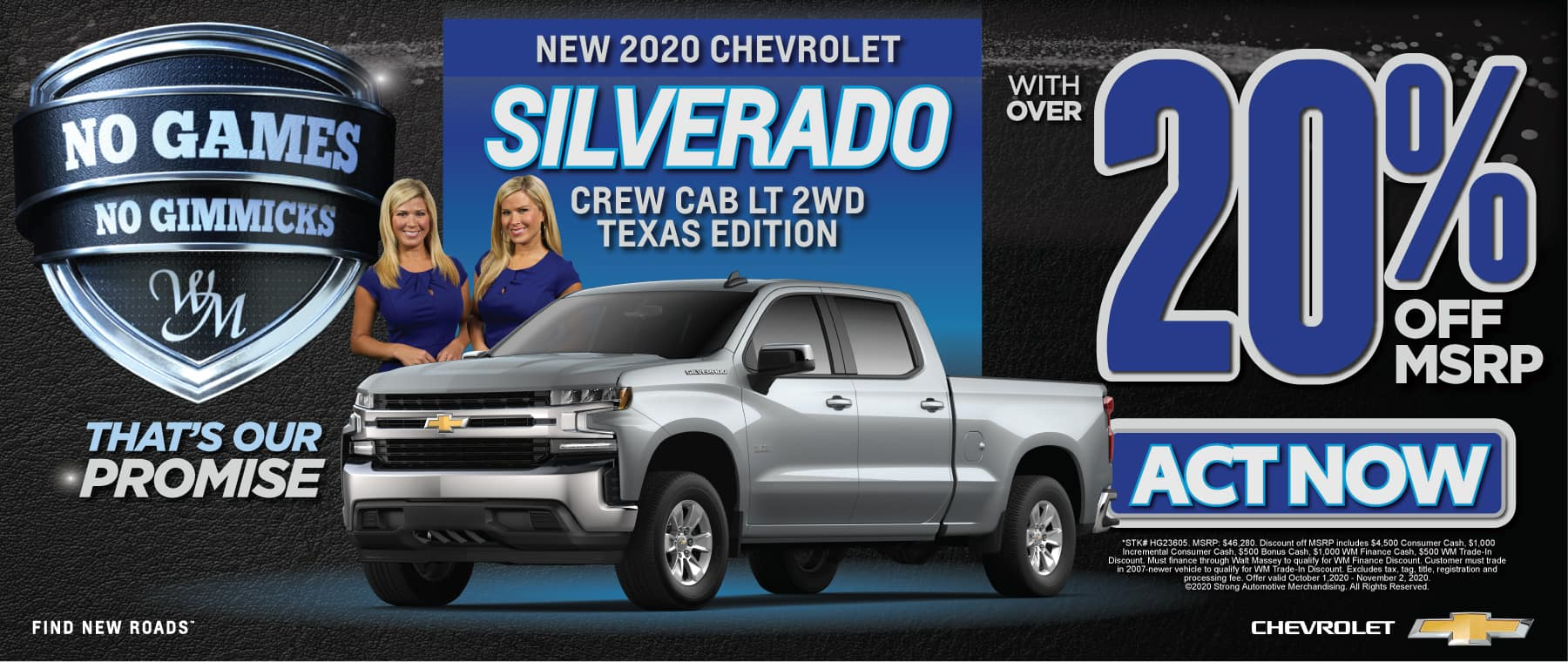 New 2020 Chevrolet Silverado | 25% off msrp | Act Now