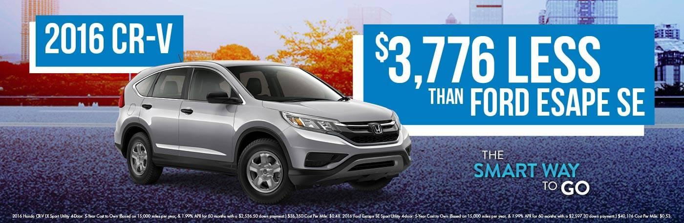 West Michigan Honda CR-V Smart Way To Go