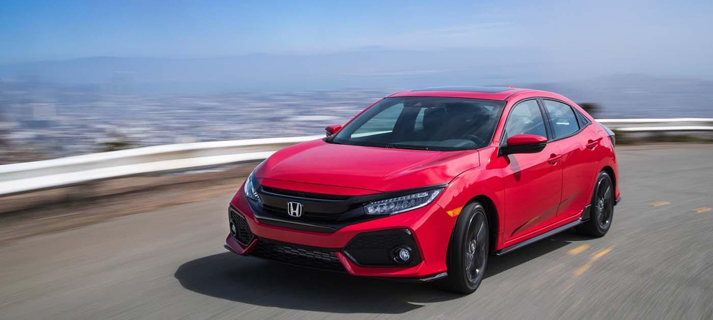 2017 Honda Civic HB Red