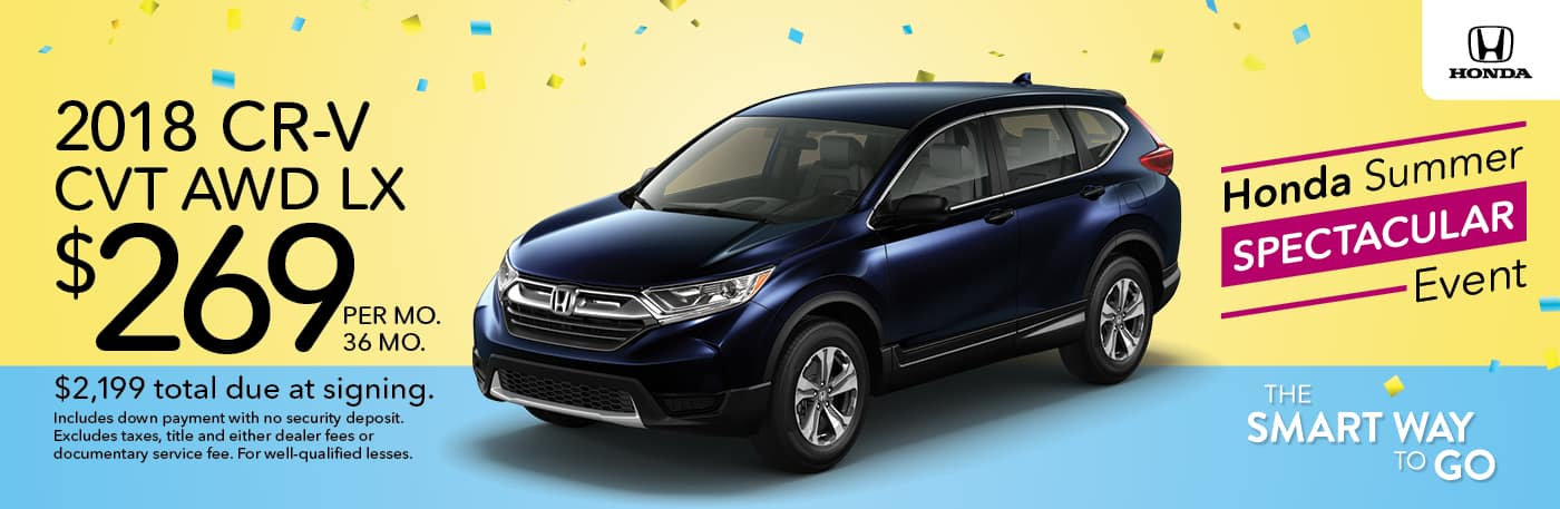 Honda Summer Spectacular Event 2018 CR V Lease Offer