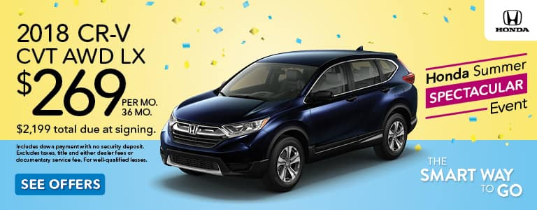 Honda Summer Spectacular Event 2018 CR-V Lease Offer