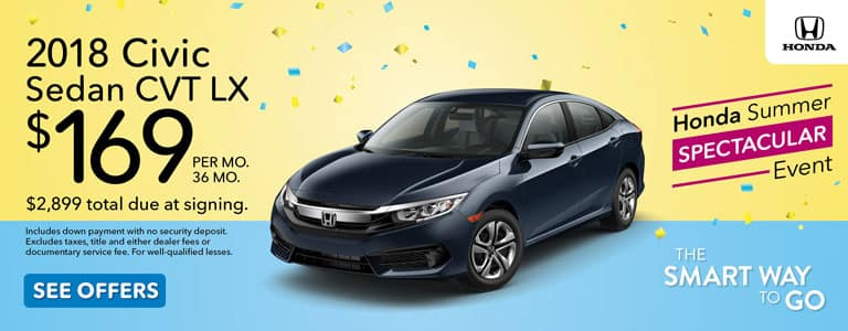Honda Summer Spectacular Event 2018 Civic Lease Offer