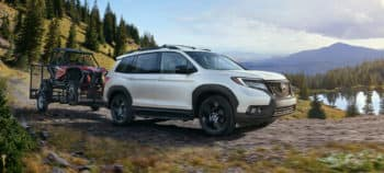 2019 Honda Passport Exterior Side Angle Mountain Towing
