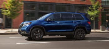 2019 Honda Passport Exterior Side Profile City Drive Blue