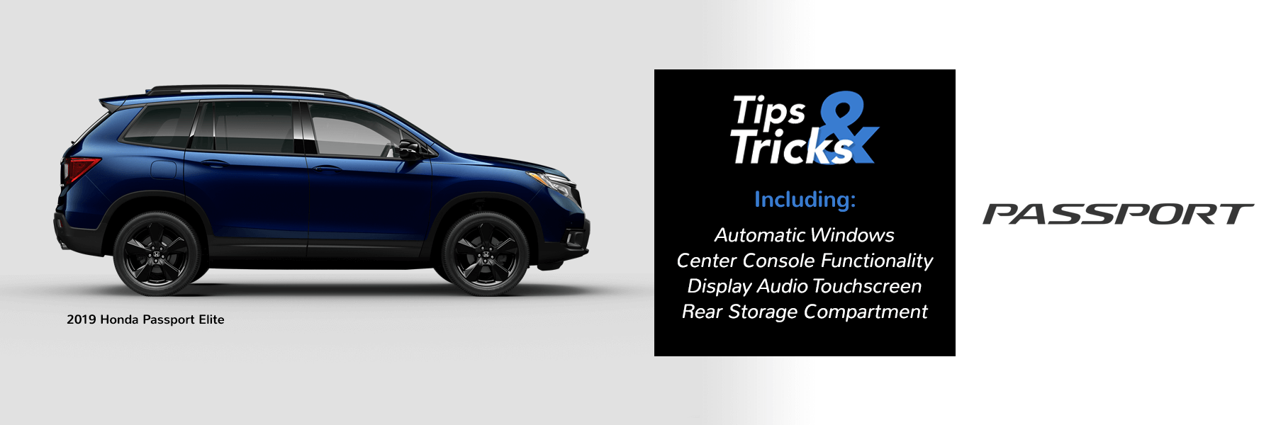 Honda Tips and Tricks 2019 Passport Slider