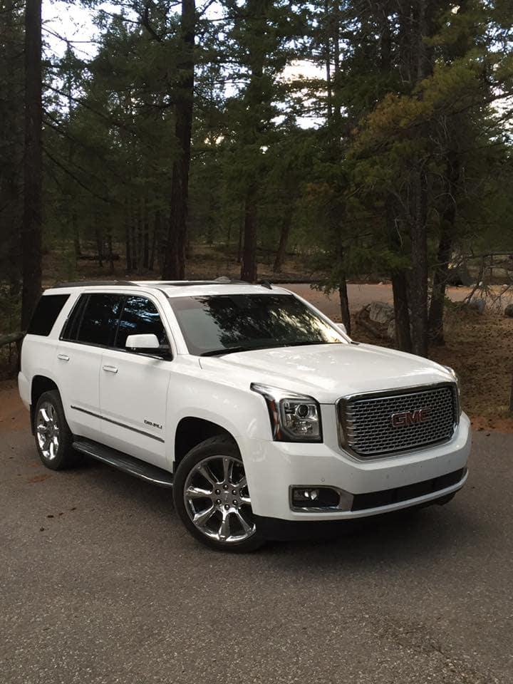 Customized White GMC Yukon Large SUV - Custom Rims - Westridge Customs