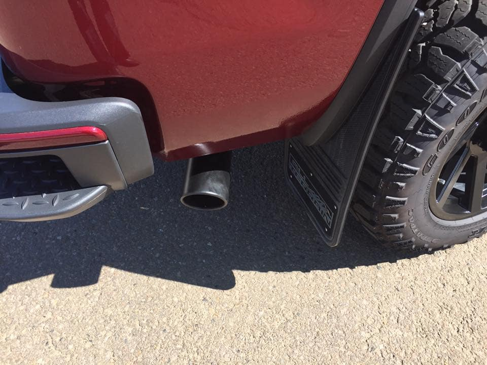 Customized Red GMC Sierra Pickup Truck - Custom Rims, Step bar - Westridge Customs