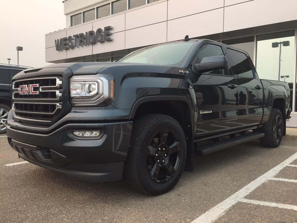 Customized Dark Slate GMC Sierra Pickup Truck - Westridge Customs