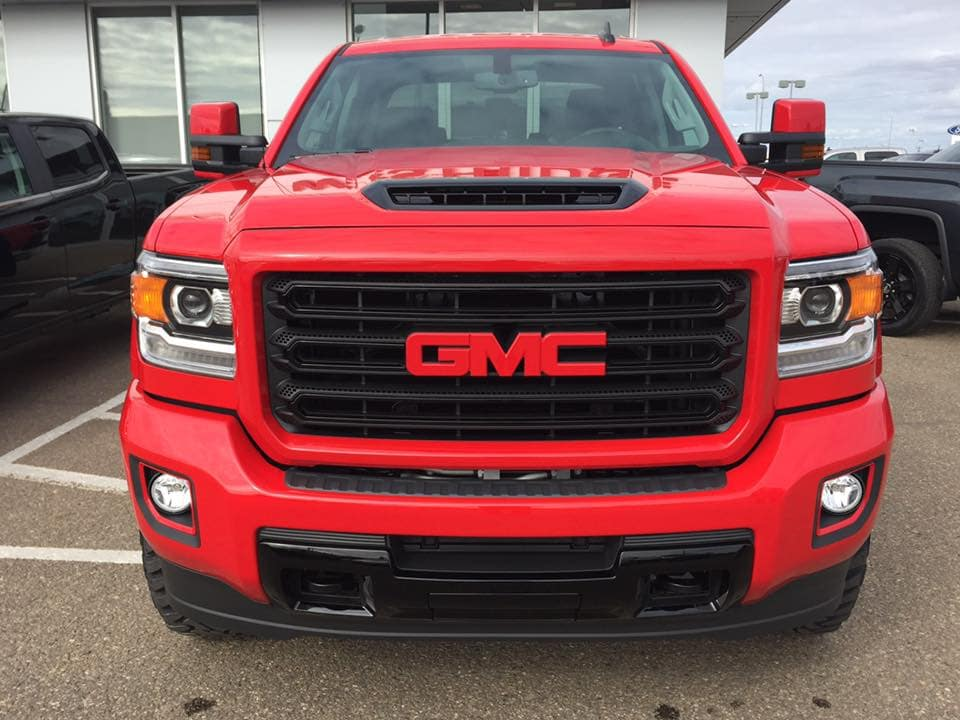 Customized Black on Red GMC Sierra Pickup Truck - Custom Rims - Westridge Customs