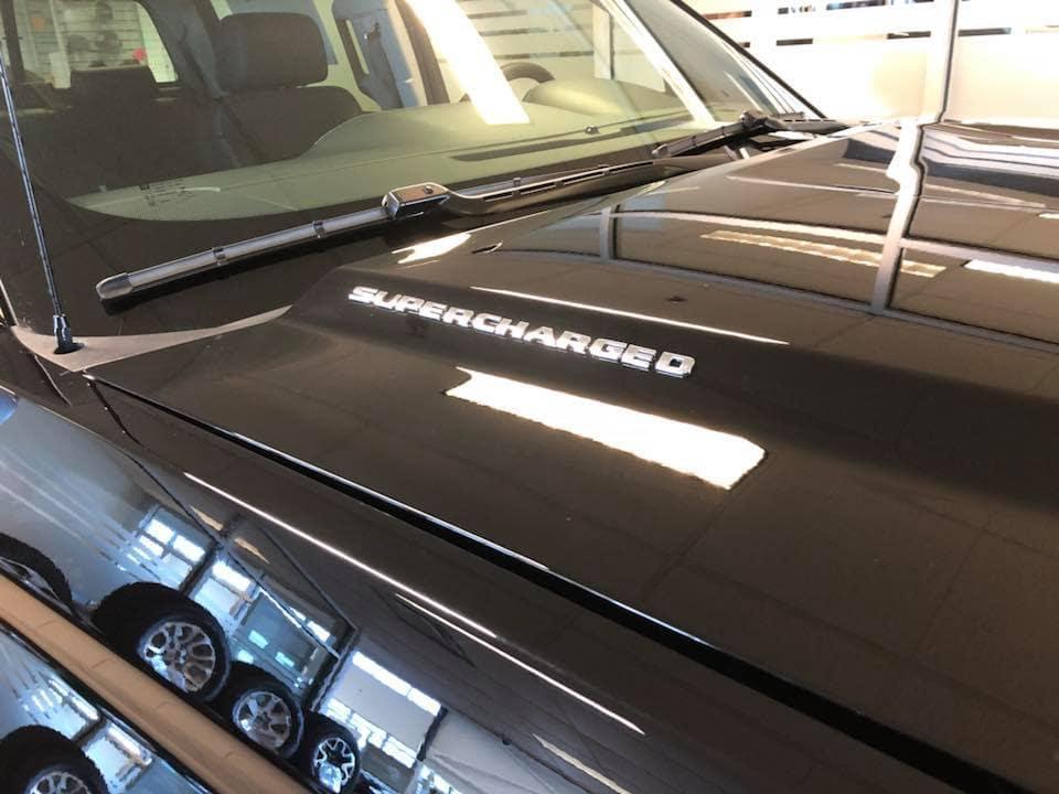 Customized Black GMC Sierra Pickup Truck Supercharged Decal - Westridge Customs