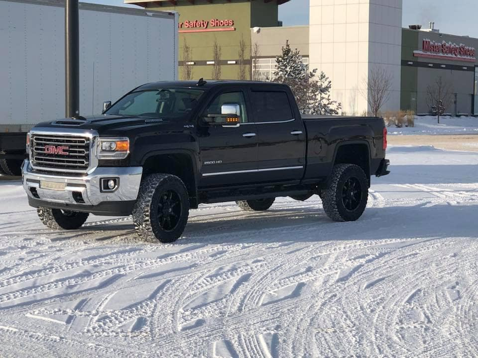 Customized Black GMC Sierra 2500HD Pickup Truck - Custom Rims - Westridge Customs
