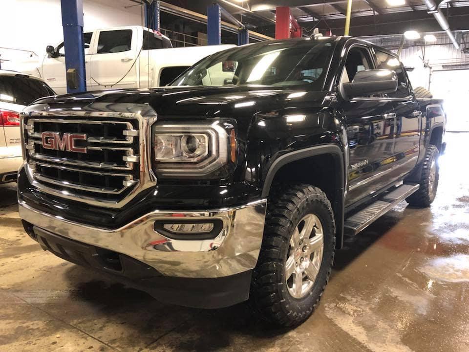Customized Black GMC Sierra Pickup Truck - Westridge Customs
