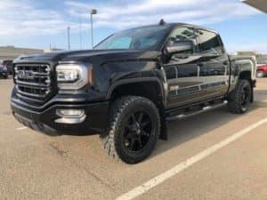 2018 Black Custom GMC Sierra Pickup Truck
