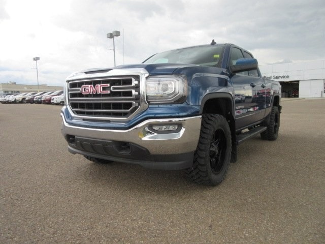 Customized Blue GMC Sierra Pickup Truck - Custom Rims - Westridge Customs