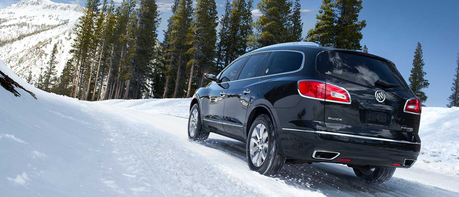 2017 Buick Enclave in the snow