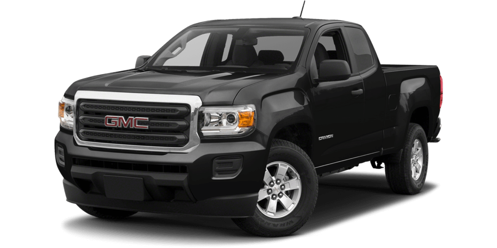 2017 GMC Canyon black exterior model