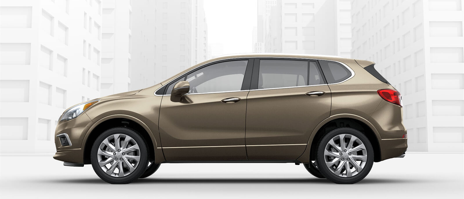 2017 Buick Envision side view in beige