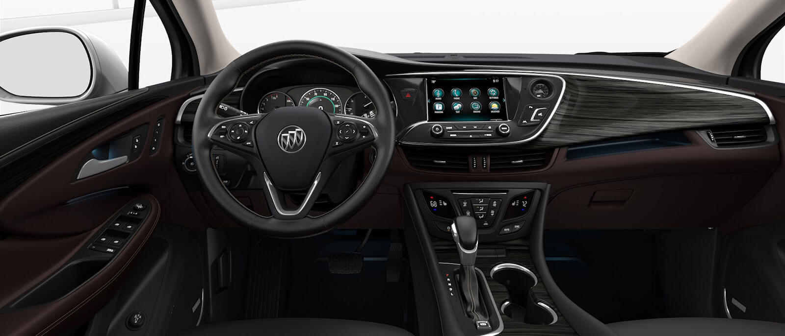 2017 Buick Envision interior dashboard view