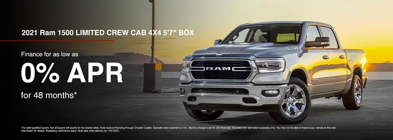 2021 Ram 1500 LIMITED CREW CAB 4X4 5'7