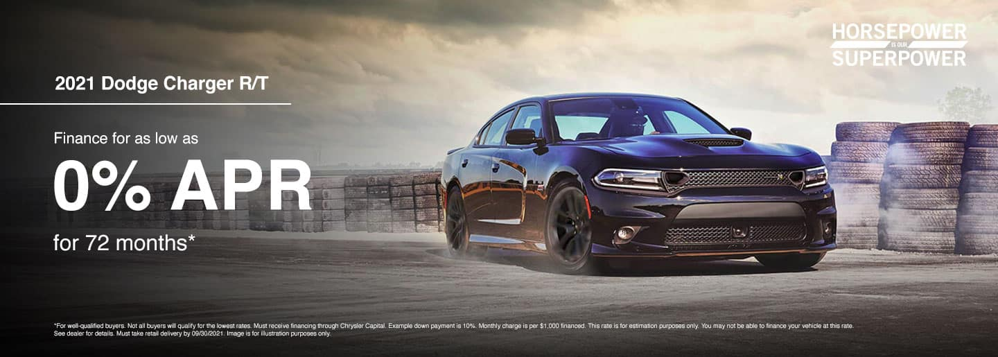 2021 Dodge Charger R/T Finance for as low as 0% APR for 72 months