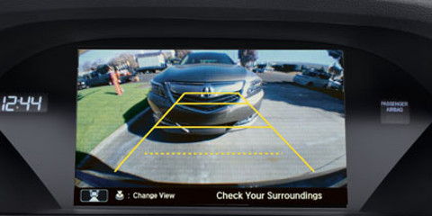 2016 RLX rearview camera