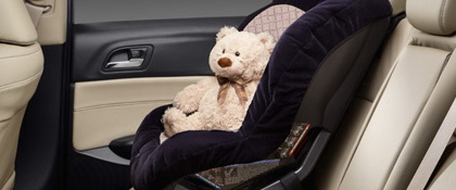 Child safety seat in acura ilx