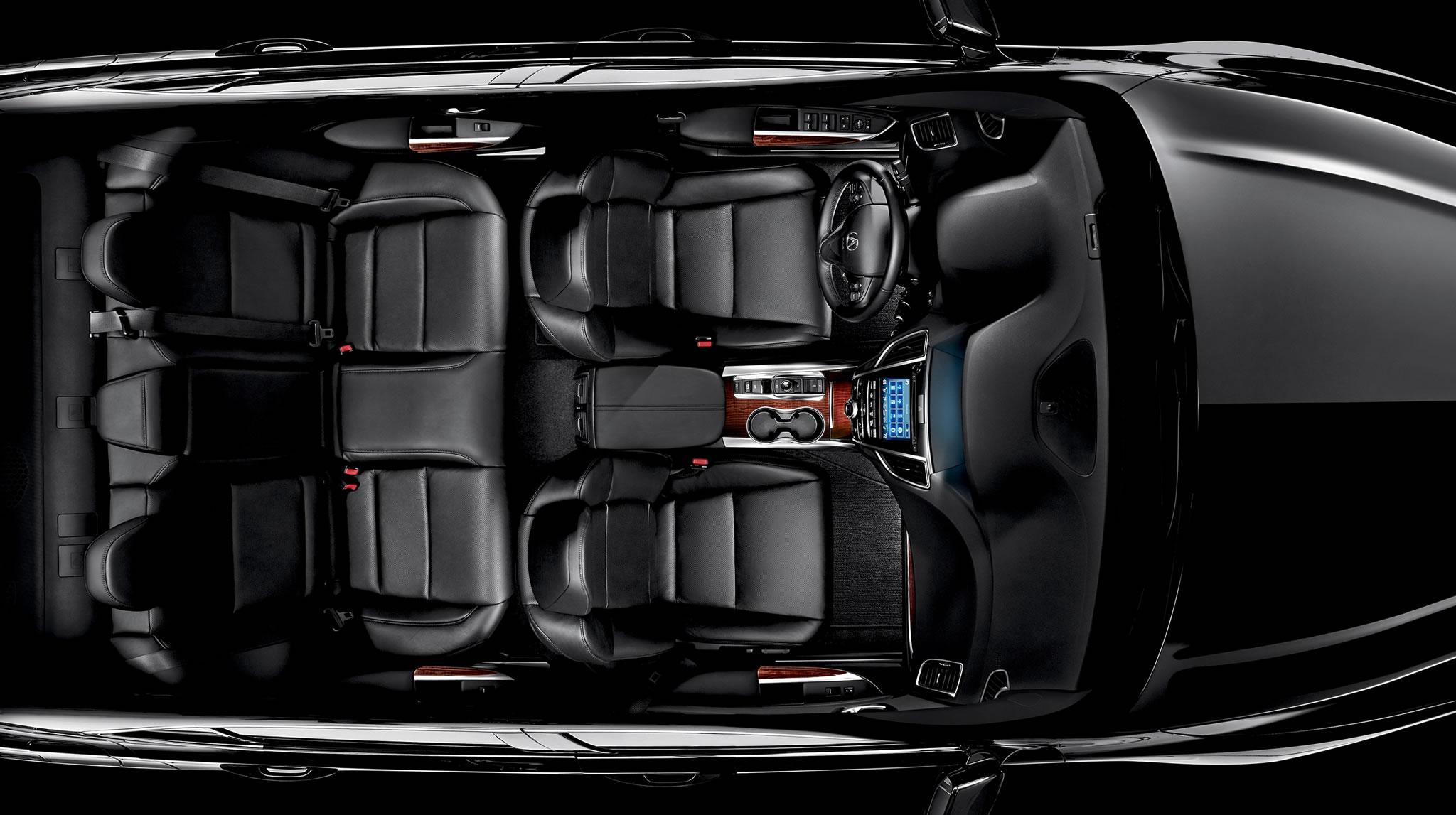 2017 Acura TLX Interior Overhead Angle