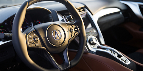 2017 Acura NSX Illuminated Steering Wheel-Mounted Controls