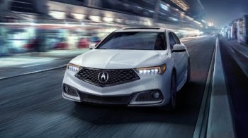 2018 Acura TLX AWD Exterior Front Angle Night