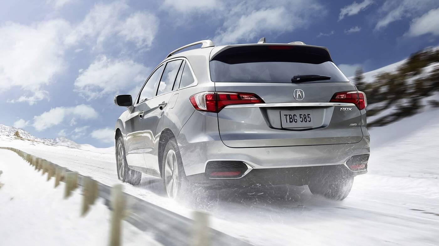 2017 Acura RDX AWD Exterior Snow Rear Angle