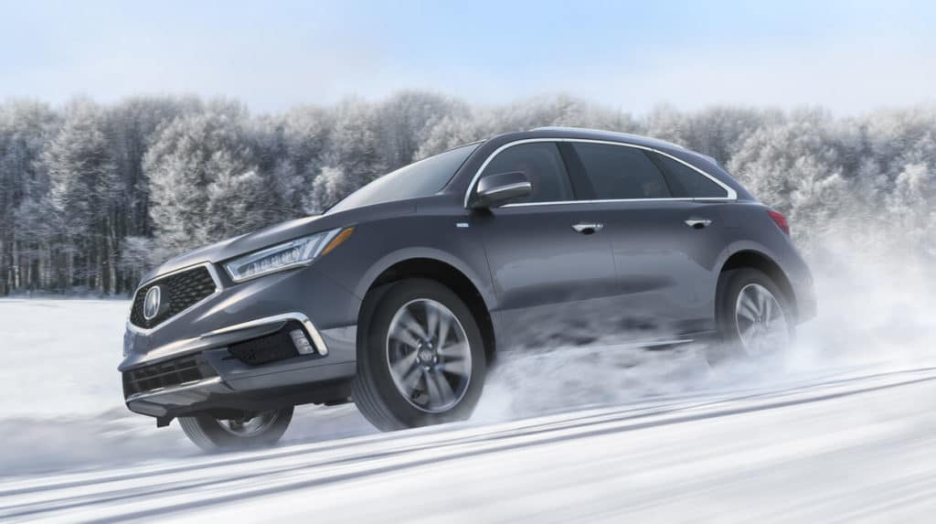 2018 Acura MDX SH-AWD Exterior Front Angle Driver Side