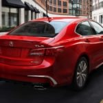 2018 Acura TLX Exterior Rear Angle Red