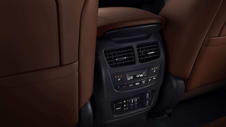 2018 Acura MDX Interior Second-Row Climate Control