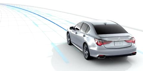 2018 Acura RLX Lane Keeping Assist System