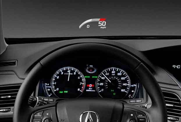 2018 Acura RLX Head Up Display
