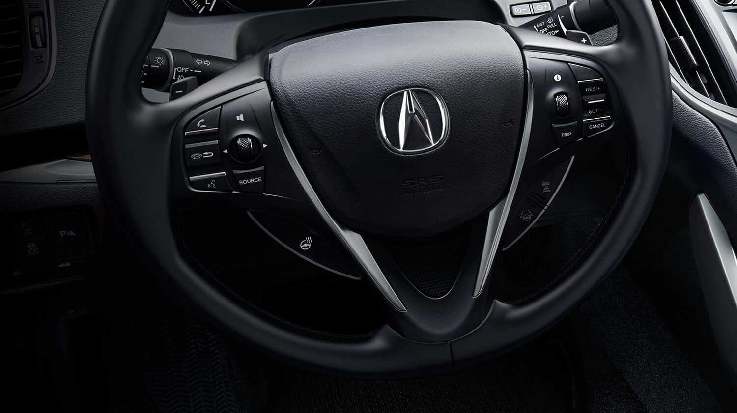 2019 Acura TLX Interior Steering Wheel Closeup