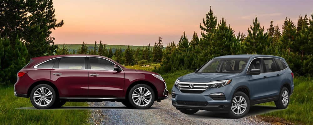 2018 Acura MDX with 2018 Honda Pilot