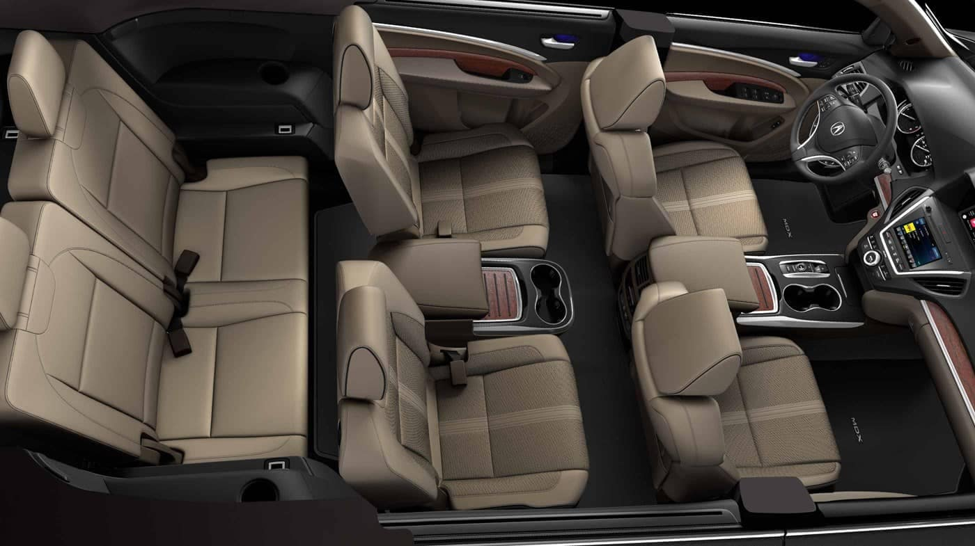 2018 Acura MDX Seating and cargo space