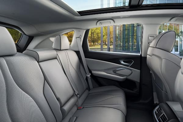 2019 Acura RDX rear passenger space