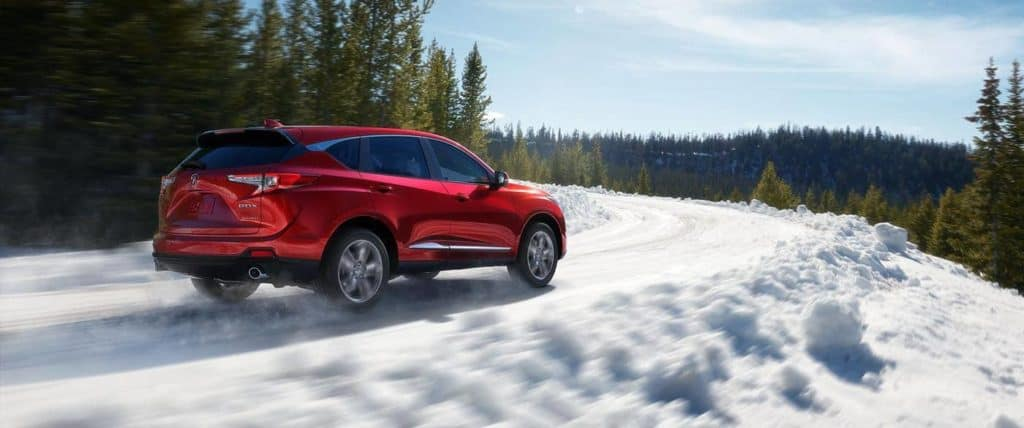 2019 Acura RDX Driving in the snow