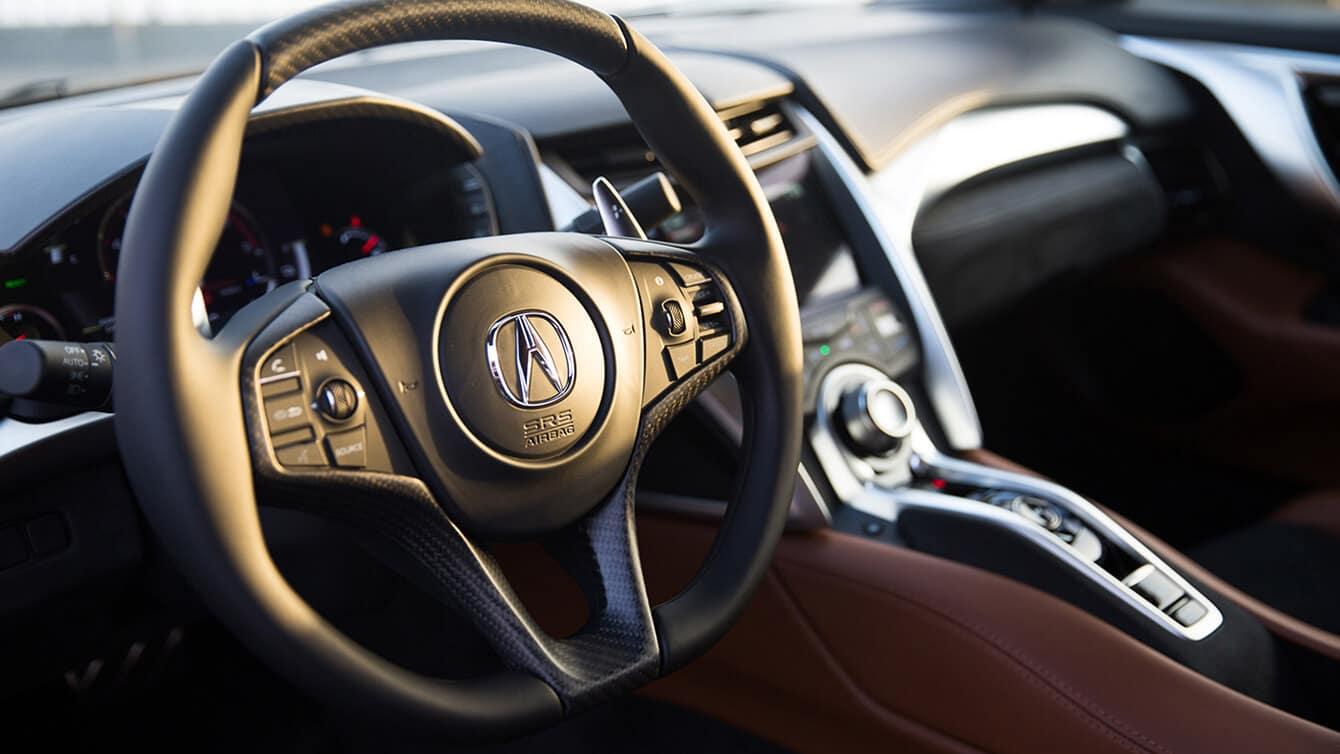 2019 Acura NSX Interior Steering Wheel Closeup
