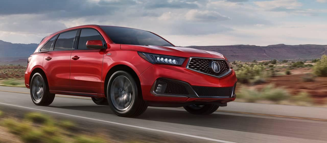 2019 Acura MDX A-Spec in Performance Red Pearl