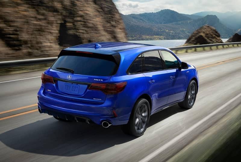 Apex Blue 2019 Acura MDX A-Spec