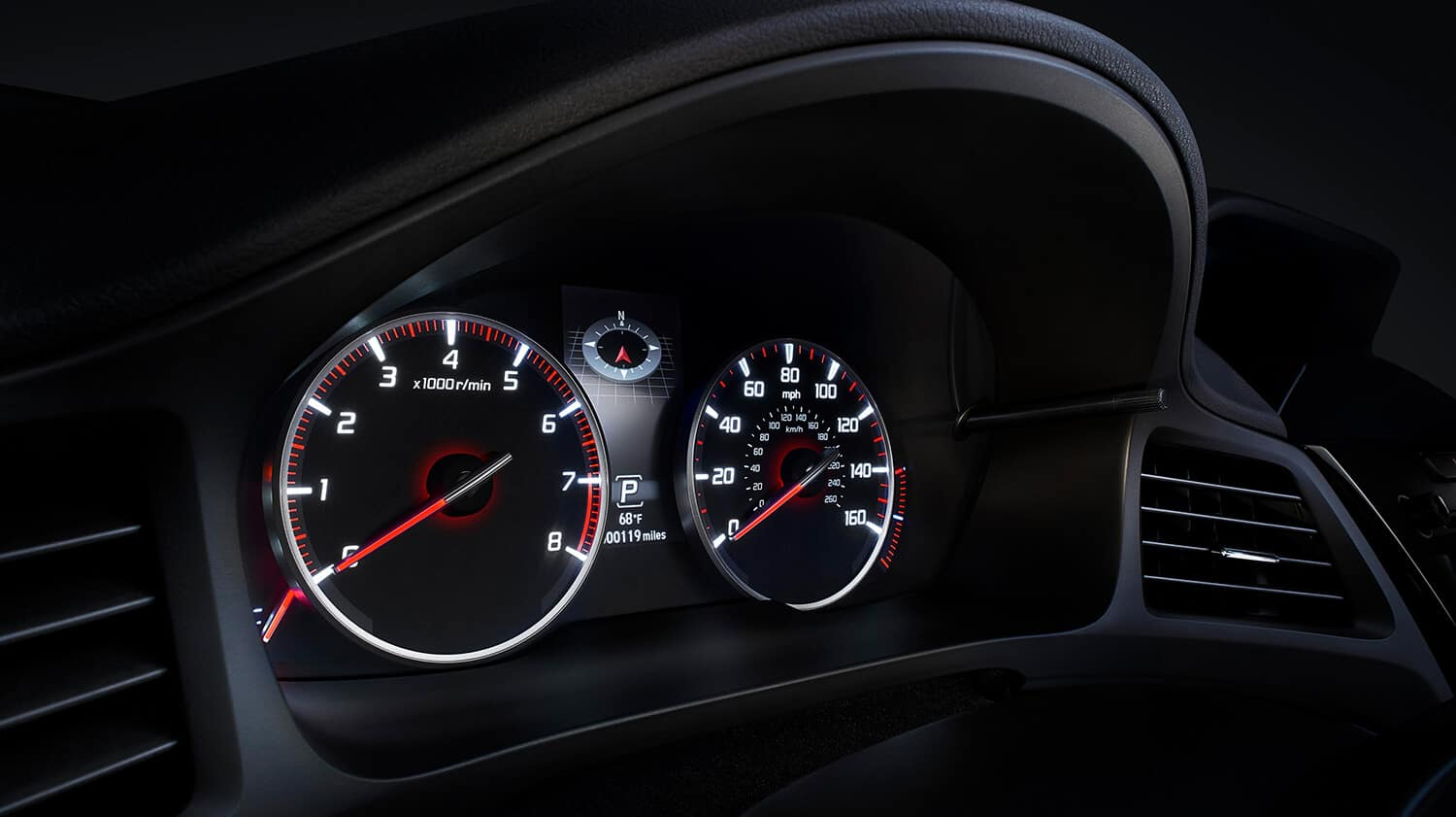 2019 Acura ILX Interior Instrument Gauges