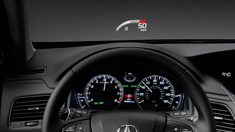 2019 Acura RLX Heads Up display