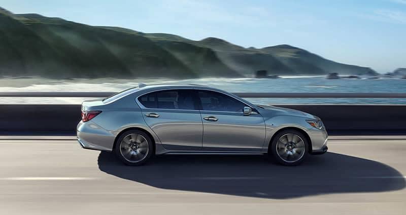 2019 Acura RLX Sport Hybrid driving