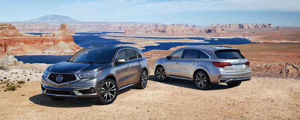 2019 Acura MDX Pair Parked