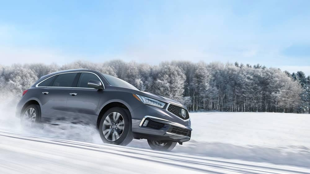 2019 Acura MDX Driving in Snow