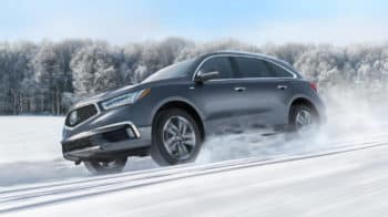 2020 Acura MDX SH-AWD Exterior Side Angle Snow Location